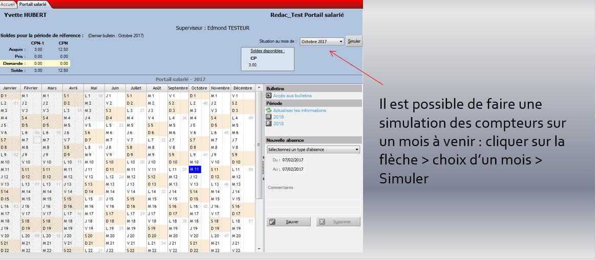 Simulation compteurs